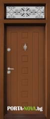 Еднокрила входна врата Т-712, цвят Златен дъб
