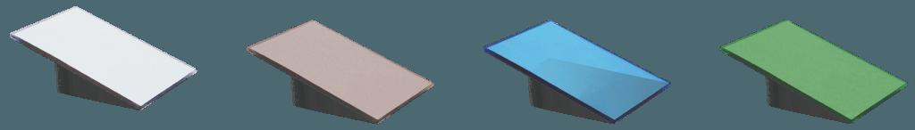 Стъкло Matt цветове - бял, бронз, синьо, зелено