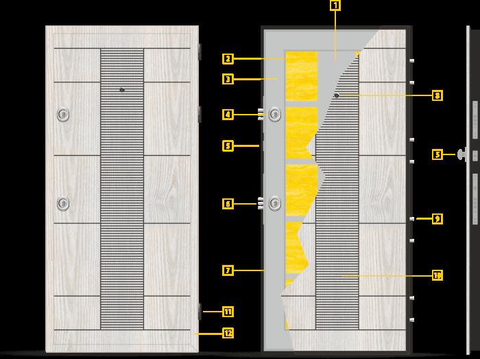 Конструкция на крилото - модел Т-901